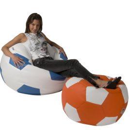sedací vak v tvare futbalovej lopty